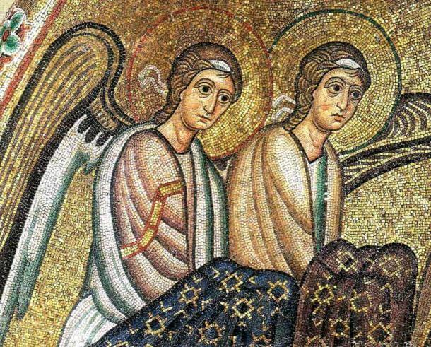 The famous almost perfect Byzantine-era mosaics in the Hosios Loukas Monastery, Greece.