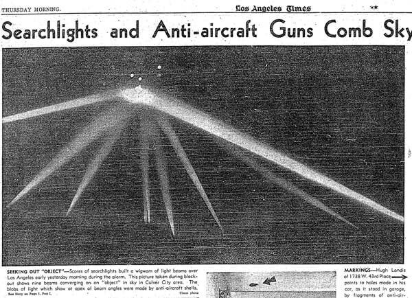 An Authentic Photo From The Los Angeles Times of A UFO Witnessed By 1 Million People