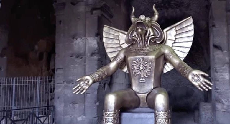 A Child Sacrifice God Now On Display In Rome Raises Questions About Elite Paedophilia & Ritual Abuse
