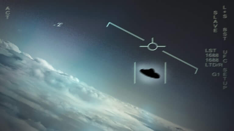 """Still image from the footage of the """"tic-tac"""" UFO"""