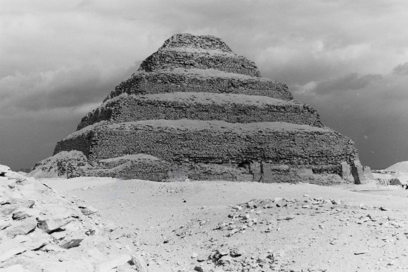 The Step Pyramid of Djoser! It was built in the 27th century BC during the Third Dynasty for the burial of Pharaoh Djoser.