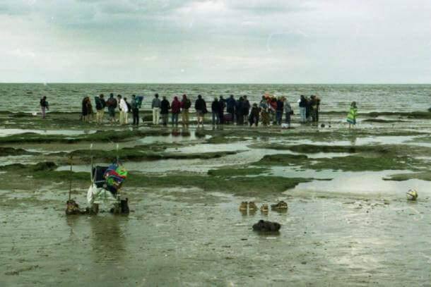 After Seahenge was found exposed in the peat bed, visitors came from far and wide to see this ancient site for themselves. (Picture Esk /CC BY-NC 2.0)